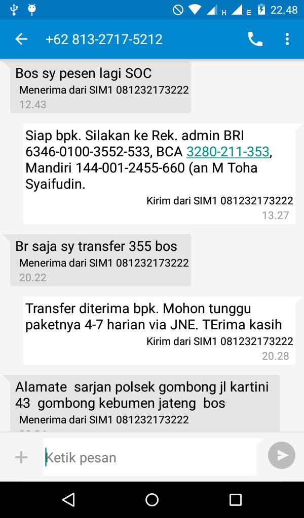 Jual SOC HCS di Kebumen WA/SMS 081232173222
