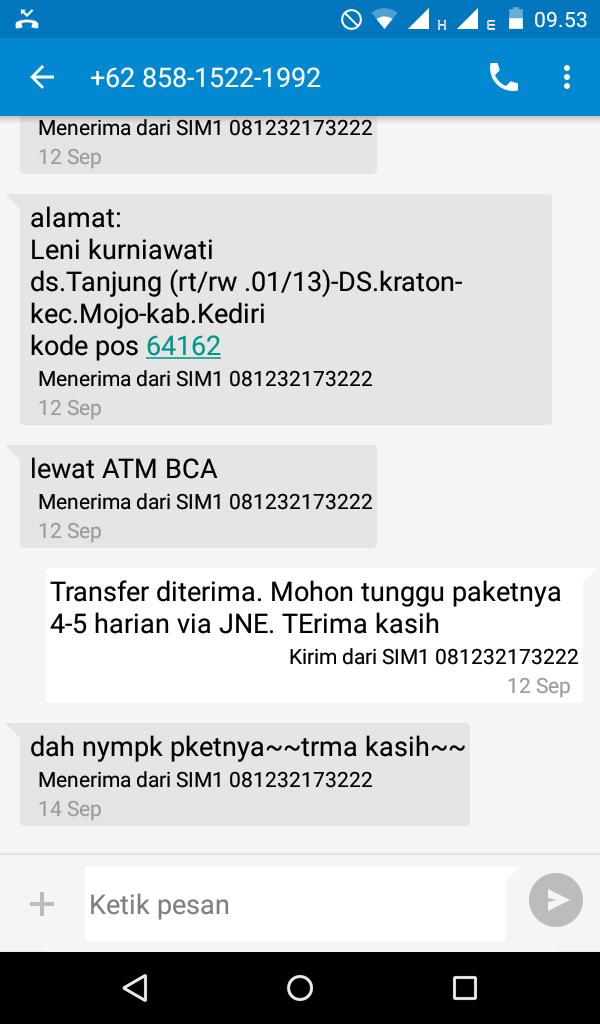 Order SOC HCS dari Kediri Jawa Timur