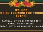 Training for trainer HCS