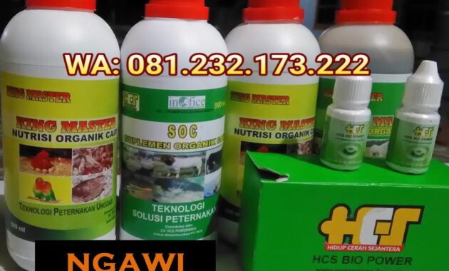 Agen SOC HCS, King Master, Bio Power Siap Kirim NGAWI